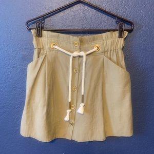ZARA Paperbag Highwaisted Skirt